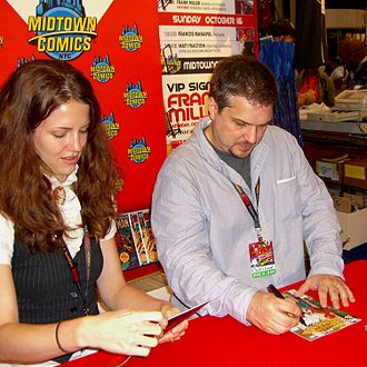 Christos Gage - Gage with Rebekah Isaacs at the 2011 New York Comic Con.