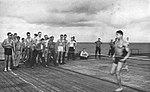 100-yard dash winner aboard USS Hollandia (CVE-97), in 1944-1945.jpg