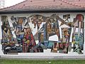 1050 Reinprechtsdorfer Straße 1c - Theodor Körner-Hof - Kindergarten - Wandmosaik Märchenzug von Paul Meissner 1957 IMG 1101.jpg
