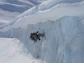 10th Special Forces Group (Airborne) Mountaineer climbs out of Worthington Glacier during the US Army SF Master Mountaineer course.jpg