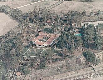 La Casa Pacifica - Overhead shot of La Casa Pacifica - 11 December 1969