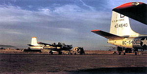 3d Wing - 13th Bombardment Squadron Tageu Air Base October 1950, Douglas A-26B-61-DL Invader 44-34540 visible.