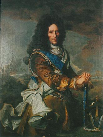 Conrad von Rosen - Rosen in 1705, painted by Hyacinthe Rigaud. Note the marshal's baton.