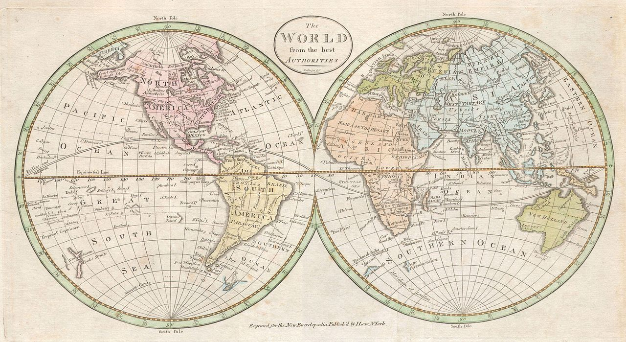 File:1798 Payne Map of the World (pre 1800 American Map ...