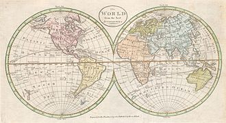 Universal history - Image: 1798 Payne Map of the World (pre 1800 American Map) Geographicus World payne 1798