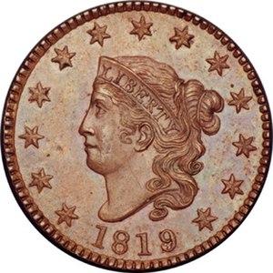 "Matron Head - An 1819 ""Matron Head"" large cent"