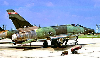 "149th Fighter Wing - The famous ""triple null"" F-100D 56-3000, while assigned to the 182d TFS in the early 1970s."