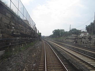183rd Street (NYC station) - Site of the former 183rd Street station looking south towards Manhattan