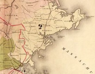 Massachusetts's 2nd congressional district - Detail of the district from 1843 to 1853.
