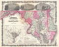 1862 Johnson Map of Maryland and Delaware - Geographicus - MDDE-johnson-1862.jpg