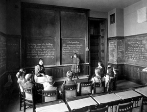 Horace Mann School for the Deaf and Hard of Hearing - Miss Fuller and Her Class, Horace Mann School for the Deaf. Photograph by A.H. Folsom, 1893 (Boston Pictorial Archive, Boston Public Library)