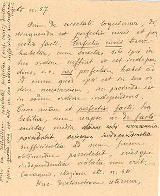 Pope Pius XII and the Holocaust - A rare 1899 handwriting of Eugenio Pacelli with text in Latin.