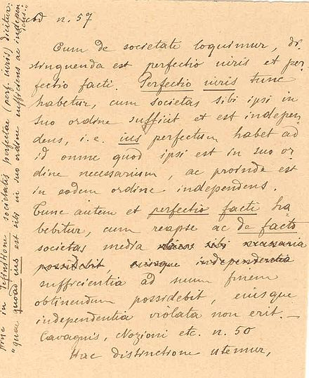 A rare 1899 handwriting of Eugenio Pacelli with text in Latin 1899eugenio.jpg