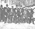 1909-03-31, Actualidades, Madrid, Fiesta en el cuartel de los Docks, Cifuentes (cropped) Grupo de veteranos que sirvieron en el batallón de Wad-Ras.jpg