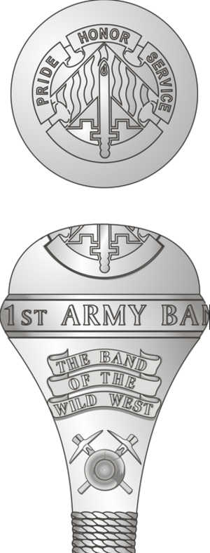 191st Army Band - Illustration of the dome of the 191st Army Band's drum-major's mace.