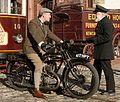1928 AJS motorcycle (417 NPT), Town, Beamish Museum, 3 November 2006.jpg
