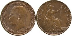 a 1933-dated penny, both sides shown