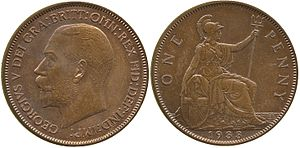 History of the British penny (1901–1970) - 1933 pattern penny