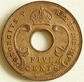 1935 East African 5 cent coin obverse.jpg