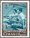 1964 stamp of Ajman JFK 4a.jpg