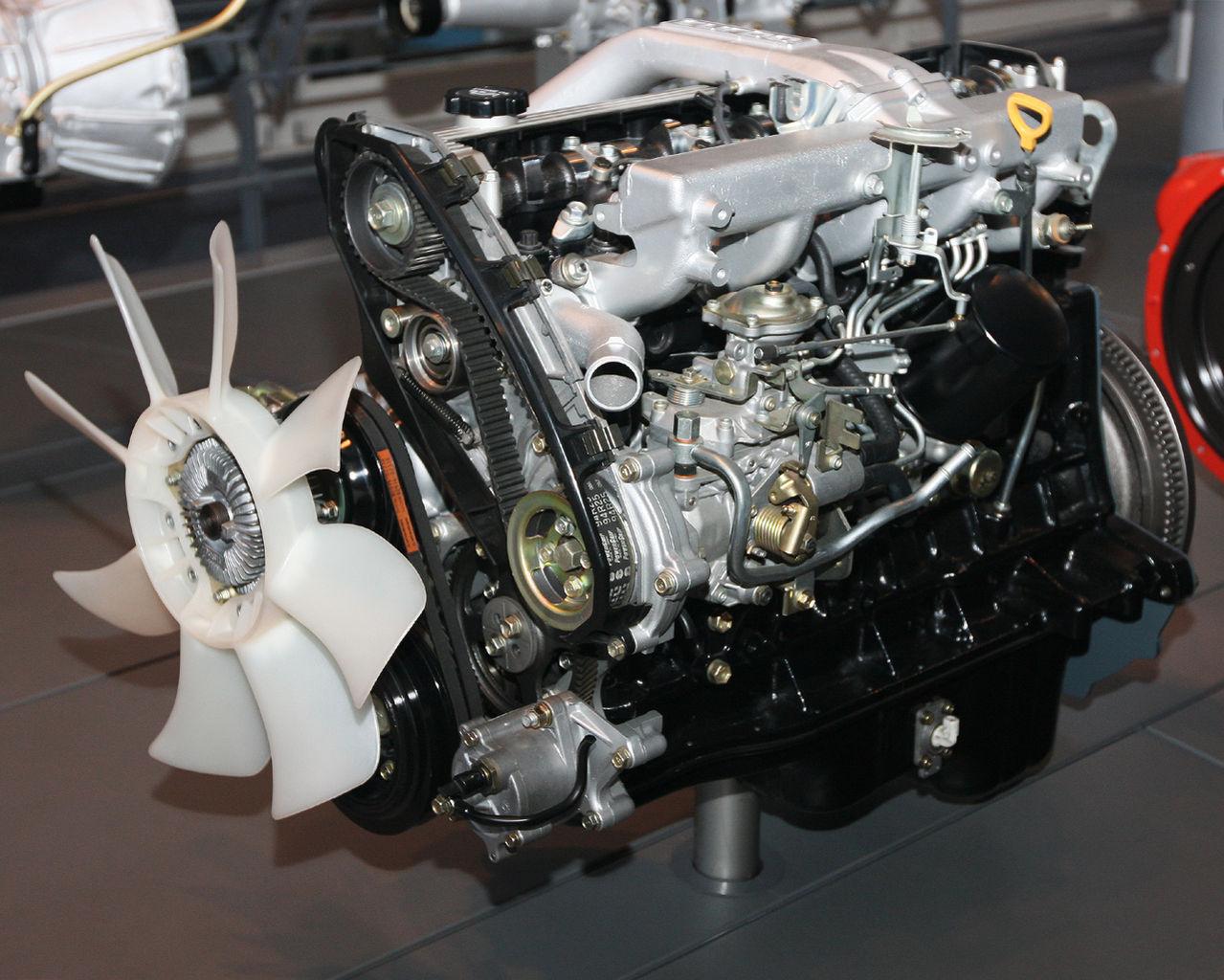 File 1989 Toyota 1hd T Type Engine Front Jpg Wikimedia