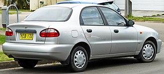 Daewoo Lanos - Daewoo Lanos (T100) SE sedan (Australia)