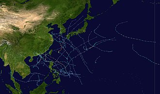 1999 Pacific typhoon season - Image: 1999 Pacific typhoon season summary