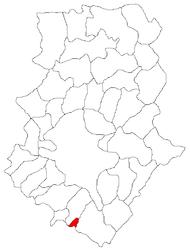 Location in Ilfov County