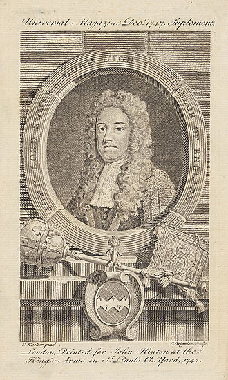 John Somers, 1st Baron Somers - A posthumous engraving of John Somers by Charles Grignion the Elder