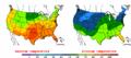 2002-09-29 Color Max-min Temperature Map NOAA.png