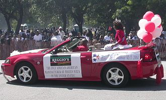 Bud Billiken Parade and Picnic - Miss Black Illinois in the 2004 parade.