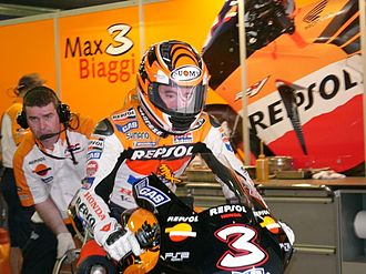 Max Biaggi - Biaggi with Repsol Honda in 2005