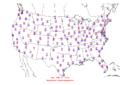 2006-02-06 Max-min Temperature Map NOAA.png