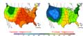 2006-05-29 Color Max-min Temperature Map NOAA.png
