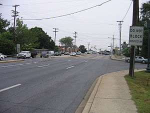 Maryland Route 185 - MD 185 northbound at Howard Avenue in Kensington
