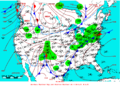 2007-01-14 Surface Weather Map NOAA.png