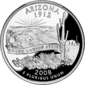 Arizona quarter dollar coin