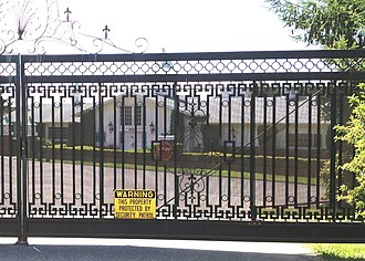 Ramtha's School of Enlightenment - Gate to Ramtha's School of Enlightenment northwest of Yelm, Washington.