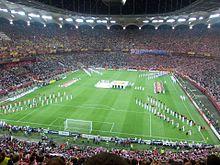 Vista d'insieme della cerimonia d'apertura della finale del 2012