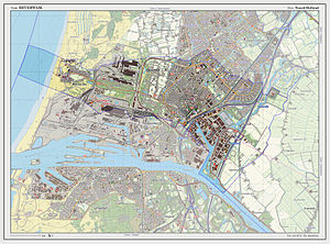Beverwijk - Dutch Topographic map of Beverwijk, July 2013
