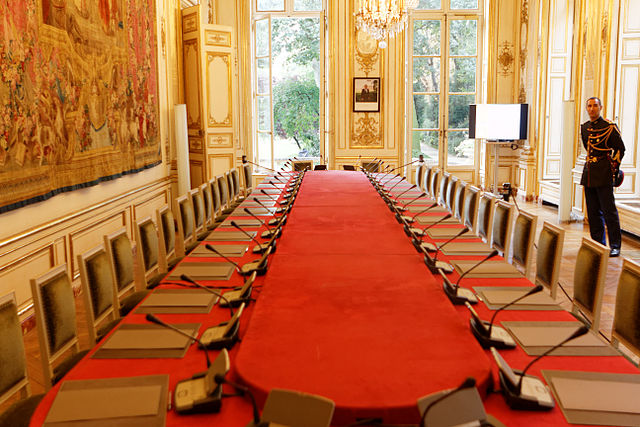 La salle du conseil, où fut notamment signée la création de la Sécurité sociale