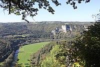 2014 09 23 Deutschland Baden-Württemberg Landkreis Sigmaringen Naturpark Obere Donau Blick von der Burg Wildenstein (2).JPG