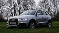 2015 Audi Q3 2.0 TDI quattro Facelift Typ 8U Vorderansicht Florettsilber-Metallic.jpg
