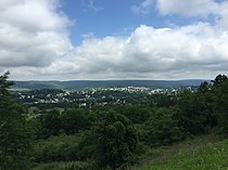 2016-06-25 10 37 21 View of Frostburg, Allegany County, Maryland from Maryland State Route 36 (New Georges Creek Road) just north of Interstate 68 (National Freeway).jpg