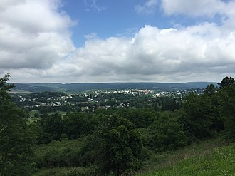 Frostburg, Maryland - View of Frostburg from MD 36 near I-68