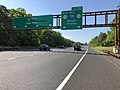 2018-05-26 09 09 55 View south along New Jersey State Route 444 (Garden State Parkway) just north of Exit 98 (New Jersey State Route 138 EAST, Interstate 195 WEST, New Jersey State Route 34, Belmar, Trenton) in Wall, Monmouth County, New Jersey.jpg