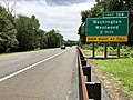 2018-07-21 13 33 17 View south along New Jersey State Route 444 (Garden State Parkway) north of Exit 166 (Washington, Westwood) in Hillsdale, Bergen County, New Jersey.jpg