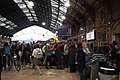 2018 at Bristol Temple Meads - ticket gate crowds.JPG