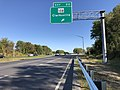 2019-09-25 16 04 37 View south along Maryland State Route 32 (Sykesville Road) at Exit 20 (Maryland State Route 108, Clarksville) in Columbia, Howard County, Maryland.jpg