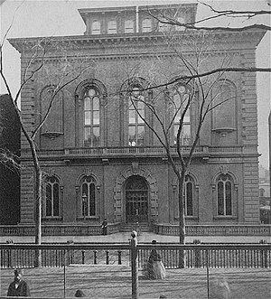 Boston Public Library - Public Library, Boylston Street, 1858–1895 (demolished 1899).